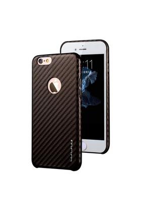 Jlw Apple iPhone 6 Plus / 6S Plus Karbon Kahverengi Rubber Kılıf