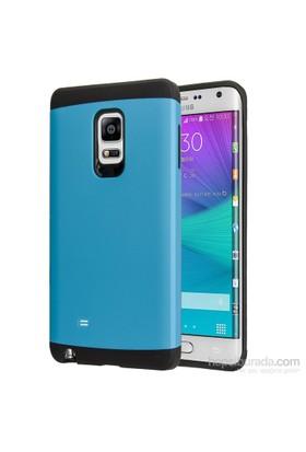 Microsonic Samsung Galaxy Note Edge Kılıf Slim Fit Dual Layer Armor Mavi