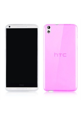 Microsonic Transparent Soft Htc Desire 816 Kılıf Pembe
