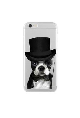 Remeto Samsung Galaxy E7 Soylu Köpek Transparan Silikon Resimli Kılıf