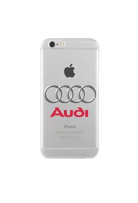 Remeto Samsung Galaxy E7 Audi Logo Transparan Silikon Resimli Kılıf