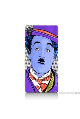 Teknomeg Sony Xperia Z4 Kapak Kılıf Charlie Chaplin Baskılı Silikon
