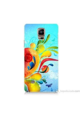 Teknomeg Samsung Galaxy Note 4 Kapak Kılıf Renkli Desen Baskılı Silikon