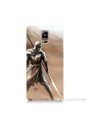 Teknomeg Samsung Galaxy Note 4 Kapak Kılıf Knight Baskılı Silikon