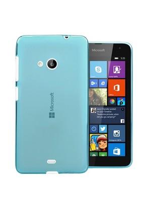 Microsonic Transparent Soft Microsoft Lumia 535 Kılıf Mavi