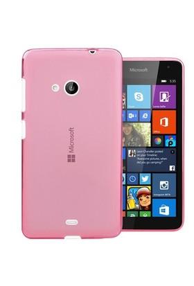 Microsonic Transparent Soft Microsoft Lumia 535 Kılıf Pembe