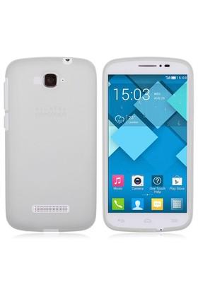 Microsonic Transparent Soft Alcatel One Touch Pop C7 Kılıf Beyaz