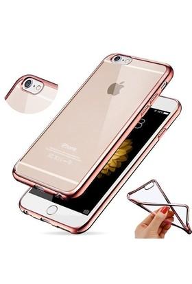 CoverZone Apple İphone 6S Kılıf Silikon Transparan Rose Gold