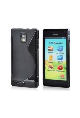 CoverZone Huawei Ascend P1 Kılıf Silikon Siyah