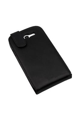CoverZone Samsung Galaxy Ace 2 İ8160 Kılıf Dik Kapaklı Siyah