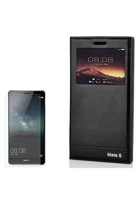 Gpack Huawei Mate S Kılıf Pencereli Milano Cam