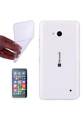 Gpack Nokıa Lumia 532 Kılıf 0.2Mm Şeffaf Silikon - Cam