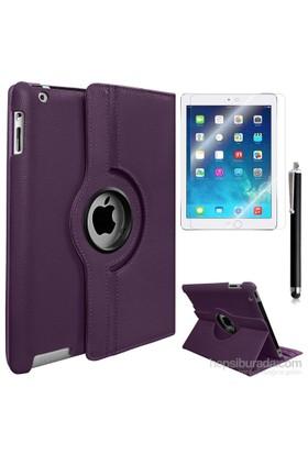 Exclusive Phone Case Exclusive Phone Case iPad Air Kılıf 360 Standlı Mor+Film+Kalem