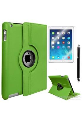 Exclusive Phone Case Exclusive Phone Case iPad Air Kılıf 360 Standlı Yeşil+Film+Kalem