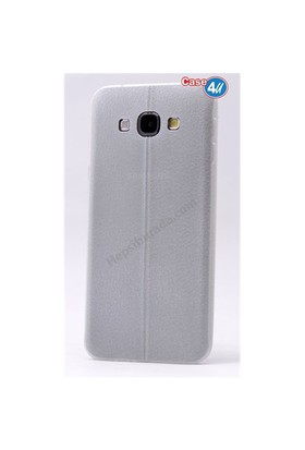 Case 4U Samsung J2 Parlak Desenli Silikon Kılıf Beyaz