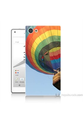 Teknomeg Sony Xperia Z5 Mini Kapak Kılıf Uçan Balon Baskılı Silikon