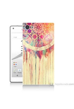 Teknomeg Sony Xperia Z5 Mini Kapak Kılıf Dream Catcher Baskılı Silikon