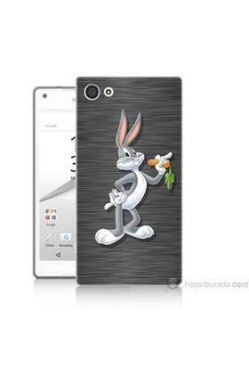 Teknomeg Sony Xperia Z5 Mini Kapak Kılıf Bugs Bunny Baskılı Silikon