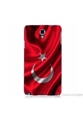 Teknomeg Samsung Galaxy Note 3 Neo Kapak Kılıf Türkiye Bayrağı Baskılı Silikon