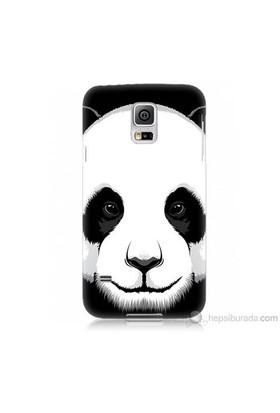 Teknomeg Samsung Galaxy S5 Mini Kapak Kılıf Panda Baskılı Silikon