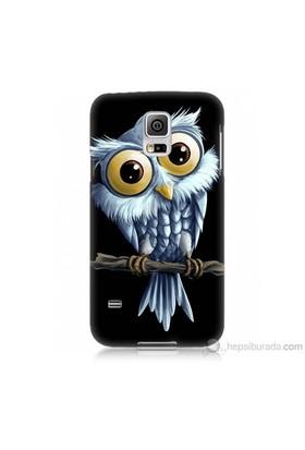 Teknomeg Samsung Galaxy S5 Mini Kapak Kılıf Beyaz Baykuş Baskılı Silikon