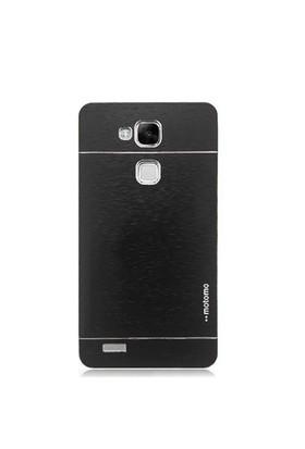 KılıfShop Huawei Ascend Mate 7 Motomo Metal Kılıf (Siyah)