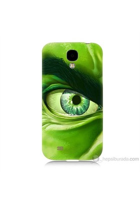 Teknomeg Samsung Galaxy S4 Kapak Kılıf Hulk Yeşil Dev Baskılı Silikon