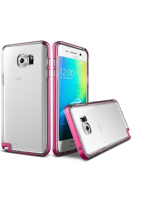 Verus Samsung Galaxy Note 5 Kılıf Crystal Bumper Series Hot Pink