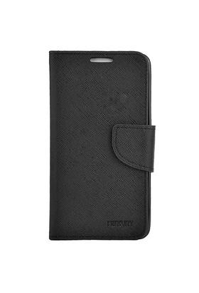 CoverZone Samsung Galaxy Note 2 Kılıf Kumaş Cüzdan Siyah