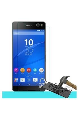 Pdcstore Sony Xperia C5 Ultra Temperli Cam Ekran Koruyucu Film