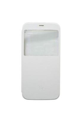 FLY IQ459 Beyaz Kapaklı Kılıf