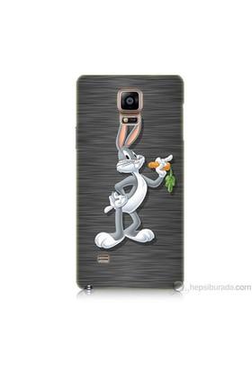 Teknomeg Samsung Galaxy Note 4 Kapak Kılıf Bugs Bunny Baskılı Silikon