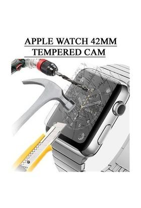 Markacase Apple Watch 42 Mm Tempered Cam Ekran Koruyucu Lazer Design