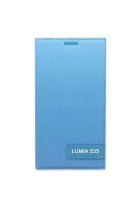 Teleplus Nokia Lumia 535 Flip Cover Kılıf Turkuaz