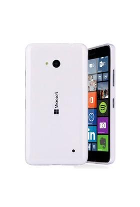 Microsonic Microsoft Lumia 640 Kılıf Transparent Soft Beyaz