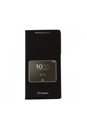 Lopard Sony Xperia Z5 Pencereli Siyah Dolce Kapaklı Deri Akıllı Kılıf