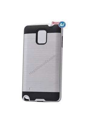 Case 4U Samsung Galaxy Note 3 Korumalı Kapak Gümüş