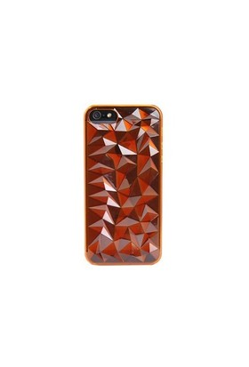 Vacca Apple İphone 5 Plexy Diamond Orange Kapak