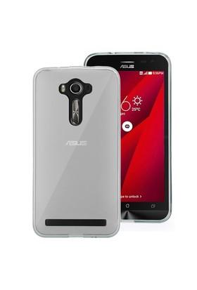 Microsonic Asus Zenfone 2 Laser 6 İnch Kılıf Transparent Soft Beyaz
