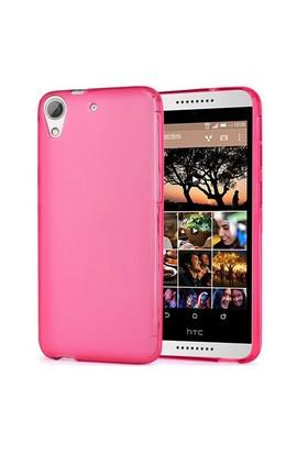 Case 4U HTC Desire 820 Soft Silikon Kılıf Pembe