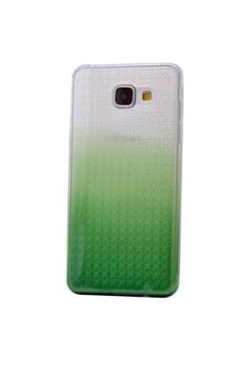 Teleplus Samsung Galaxy A7 2016 Çift Renkli Silikon Kılıf Yeşil