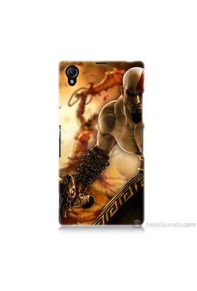 Teknomeg Sony Xperia Z1 Kapak Kılıf God Of War Baskılı Silikon