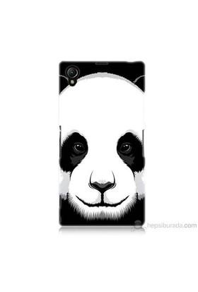 Teknomeg Sony Xperia Z1 Kapak Kılıf Panda Baskılı Silikon