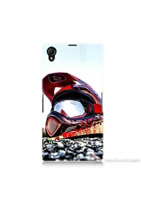 Teknomeg Sony Xperia Z1 Kapak Kılıf Kask Baskılı Silikon