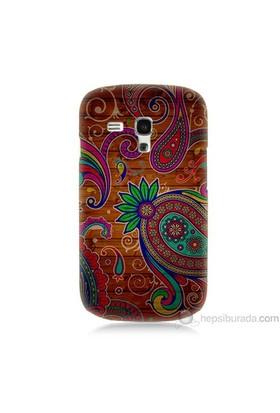 Teknomeg Samsung Galaxy S3 Mini Kapak Kılıf Çiçek Deseni Baskılı Silikon