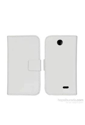 Case 4U HTC Desire 310 Delux Beyaz Kılıf
