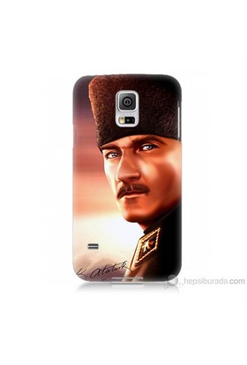 Teknomeg Samsung Galaxy S5 Mini Kapak Kılıf Mustafa Kemal Baskılı Silikon