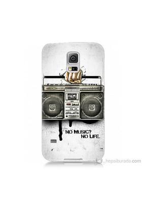 Teknomeg Samsung Galaxy S5 Mini Kapak Kılıf Müzik Hayattır Baskılı Silikon
