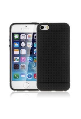 Microsonic Dot Style Silikon İphone 5S Kılıf Siyah