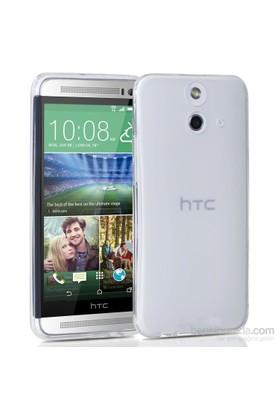 Case 4U HTC One (E8) Soft Silikon Kılıf Şeffaf